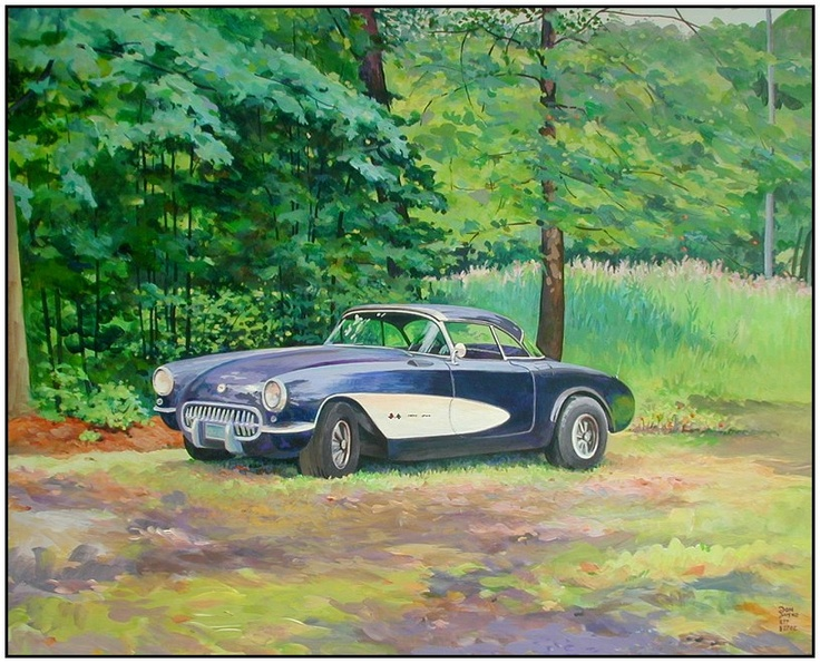 Impressionistic Corvette art