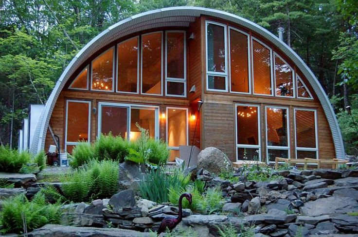 "via Building Homes and Living How many of you have looked into these Quonset building kit homes? First thing you might notice is that there are a couple of standard types, based mostly on the roof. These are P and S styles. According to SteelMaster, ""Quonset homes are becoming more and more popular with the…"