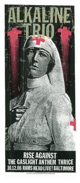 Alkaline Trio Nurse Concert Poster Screen by printmafiadesigns, $20.00