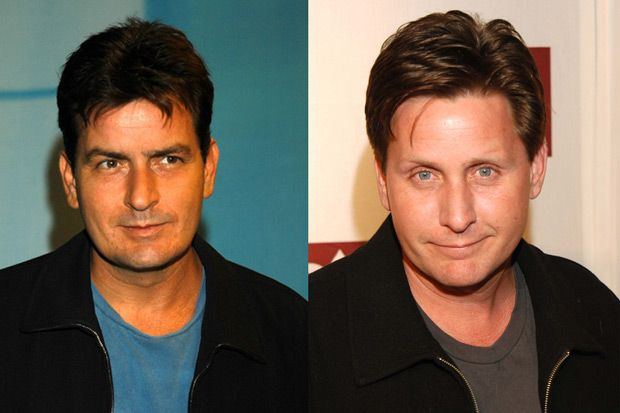 CHARLIE SHEEN AND EMILIO ESTEVEZ These two famous actors share a legendary father – Martin Sheen. They both decided to be actors at an early...