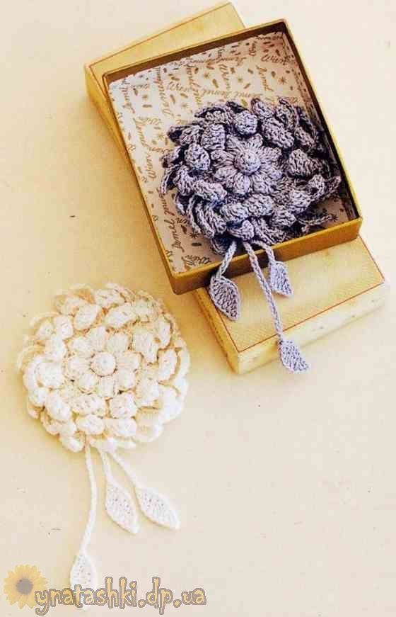 crochet brooch pattern