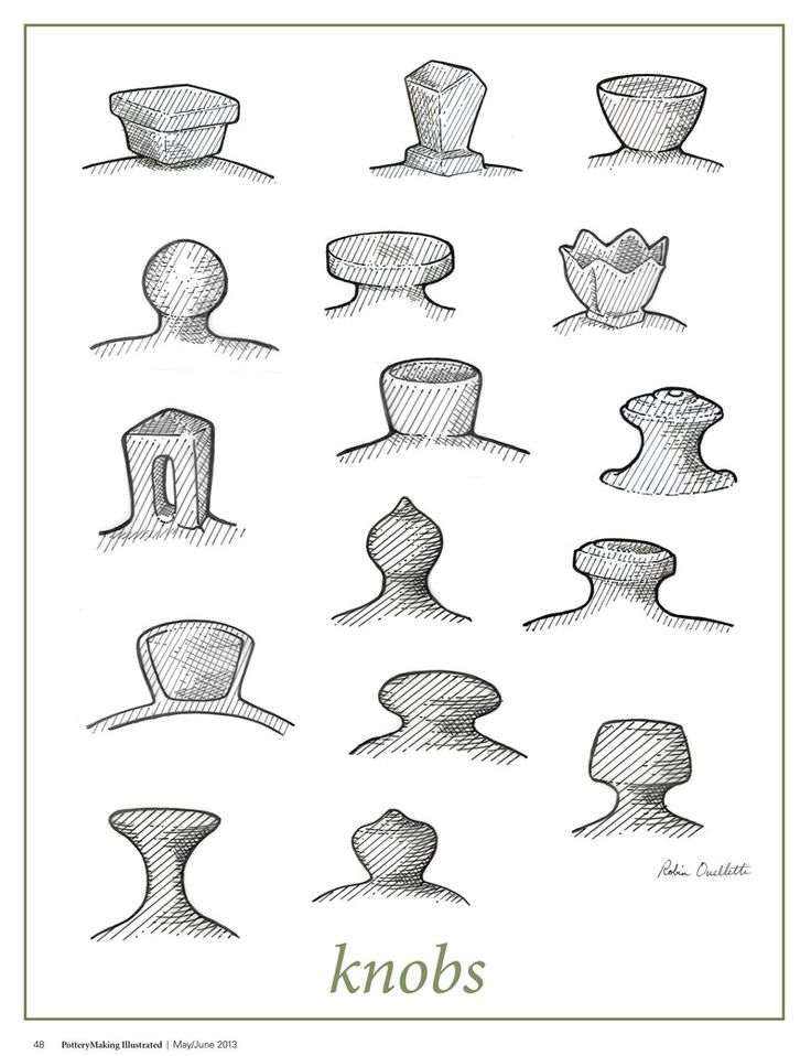 Hey fans  have you checked out our Pottery Illustrated section  In the  May June 2013 issue  artist Robin Ouellette showed us all the different  ways to. 271 best Pottery   Handles  Feet  Lids images on Pinterest