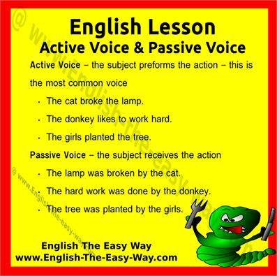 how to write with active voice