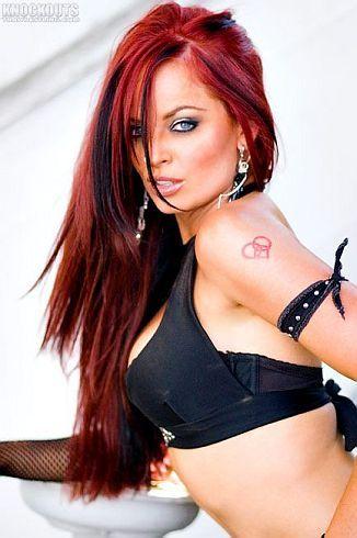 redhead - Christy Hemme, pro wrestler