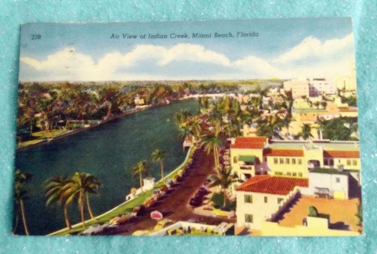 A View Of Indian Creek Miami Beach Florida Post Card