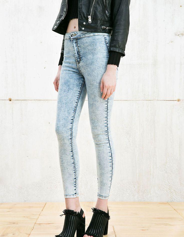 High waist jeggings - Jeans - Bershka Hungary
