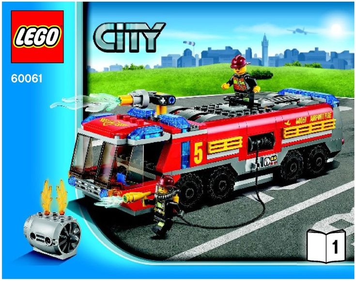 Lego Fire Starter Set Instructions 60106 City Lego Pinterest