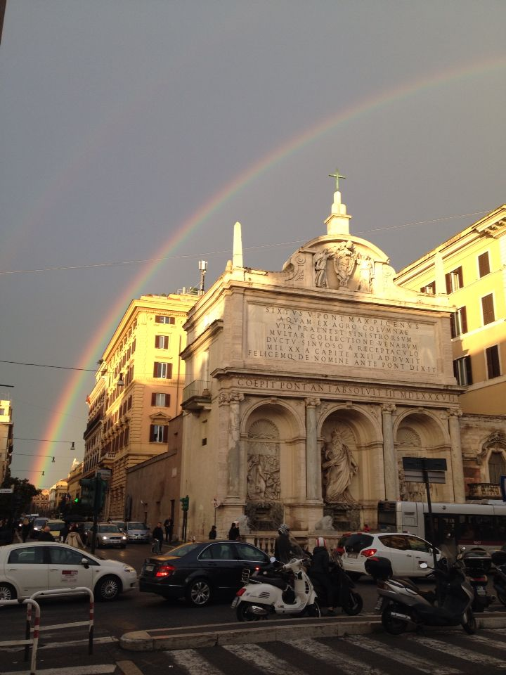 Roma, March rainbow