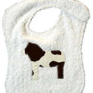 Reversible Soft Bib – Cow Patch Design
