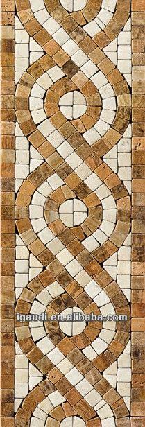 Guarda en piedra mosaico.