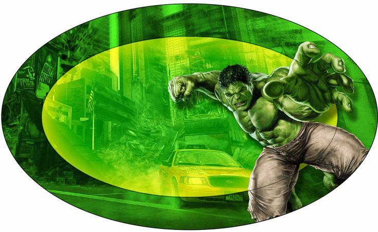 Hulk: Eitquetas para Candy Bar para Imprimir Gratis.