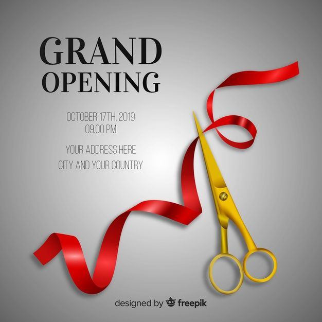 Grand Opening Background In Realistic St Free Vector Freepik Freevector Freebackground Freer In 2020 Poster Background Design Graphic Design Flyer Vector Free