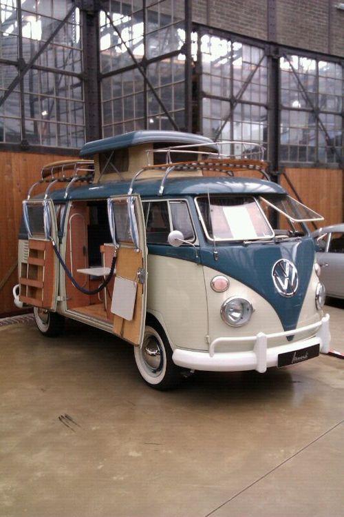 Fantastic VW bus camper.