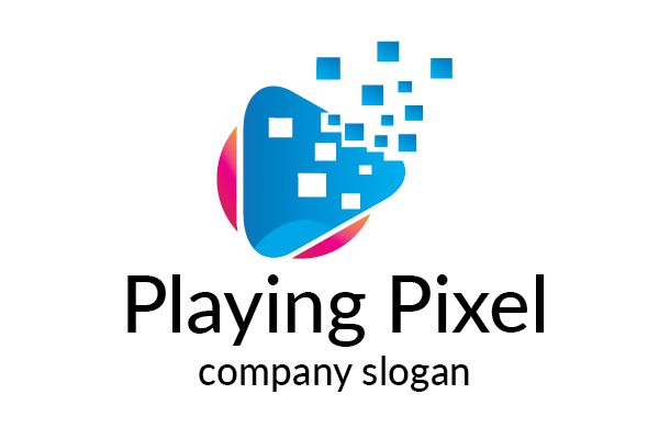 Playing Pixel Logo