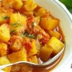 Potato & Pea Curry. Vegan minus the yogurt to serve with it.
