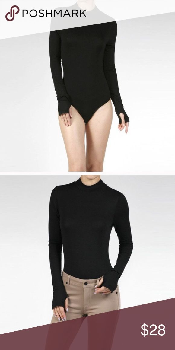 Black long sleeve turtle neck bodysuit Size small, medium, and large available! 95% rayon and 5% spandex. Perfect for any occasion! April Spirit Tops Tees - Long Sleeve