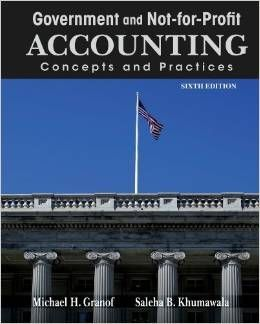 Test Bank Government and Not For Profit Accounting Concepts and Practices 6th Edition by Michael H.