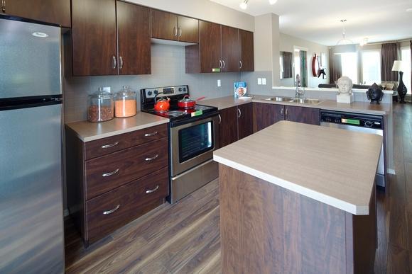 Functional, open-concept kitchen.