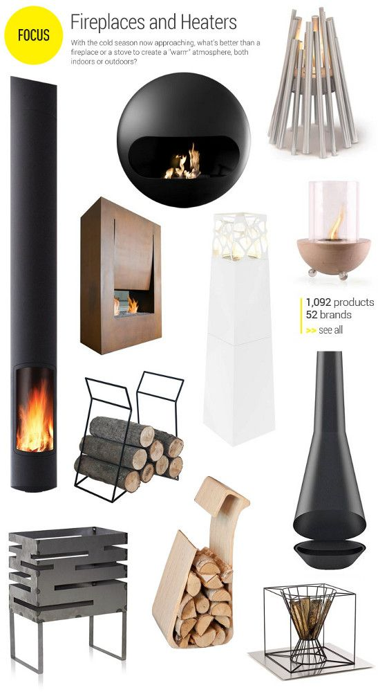 Focus on fireplaces and heaters - With the cold season now approaching, what's better than a #fireplace or a stove to create a warm atmosphere, both indoor or outdoor?