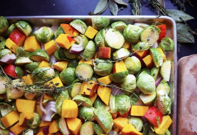 Recipe Share – Roasted Brussels Sprouts + Golden Beets  #baked #roasted #vegetables #veggies #eatyourveggies #beets #plantbased #food #healthy #delicious #nutritious