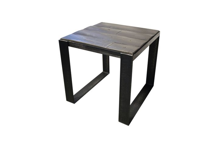 Table de bout en pruche #table #living #room #acier #steel #meuble #furniture #industriel #industrial #design #wood #bois