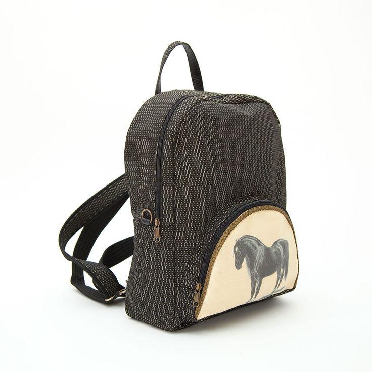 Carmen backpack by EfiDolcini. #backpack #carmen #tabletcase #madeingreece #horse