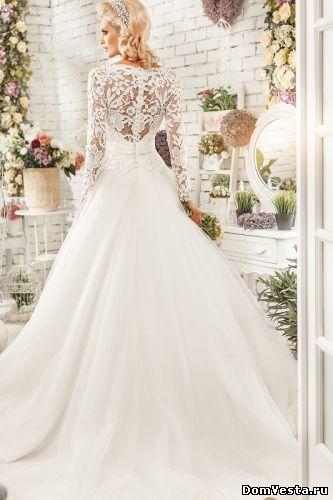 Пышное свадебное платье с длинными рукавами (#10 955), цена 59200 руб. | «Дом Весты»