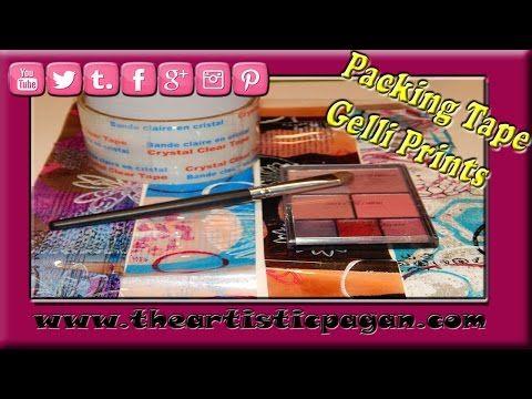 Packing Tape Gelli Prints - YouTube