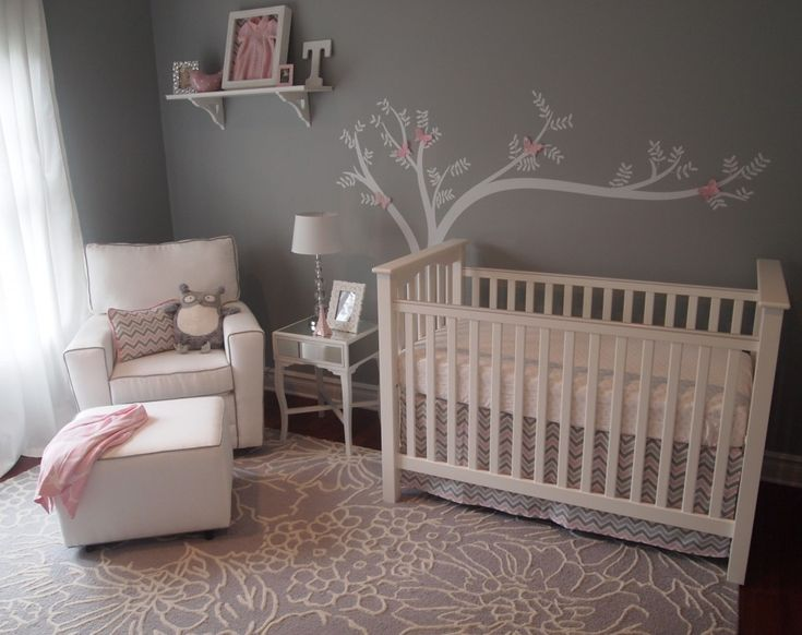 17 best images about baby room on pinterest trees bird - White and grey nursery ideas ...
