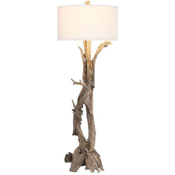 Hounslow heath floor lamp 1025 cad liked on polyvore for Tree limb floor lamp