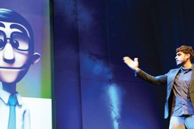 Tenório criou o Hand Talk, um aplicativo para celulares e tablets que traduz o português para Libras, a linguagem de sinais