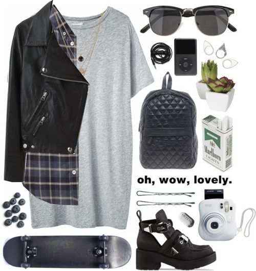 grunge outfit | Tumblr I like every thing but the shoes and cigarets