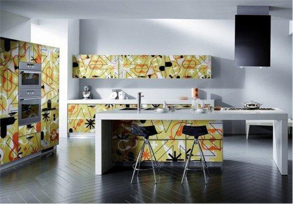 Original decoration of modern kitchen