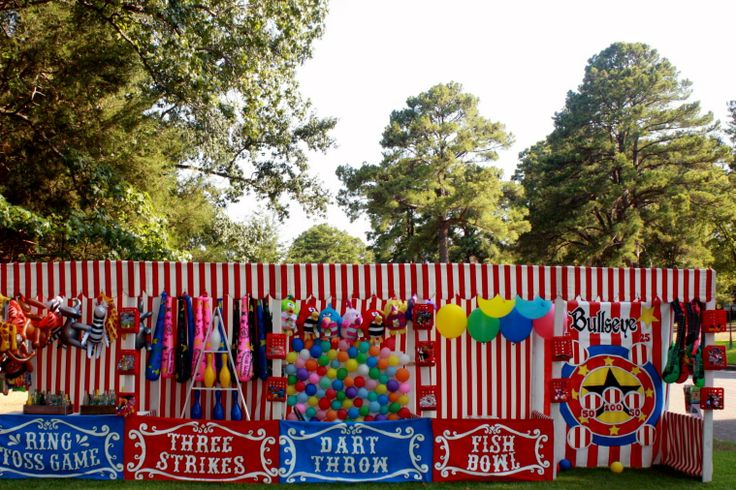 Carnival game booths (for Cokesbury's Everywhere Fun Fair) For our Kick-off!!