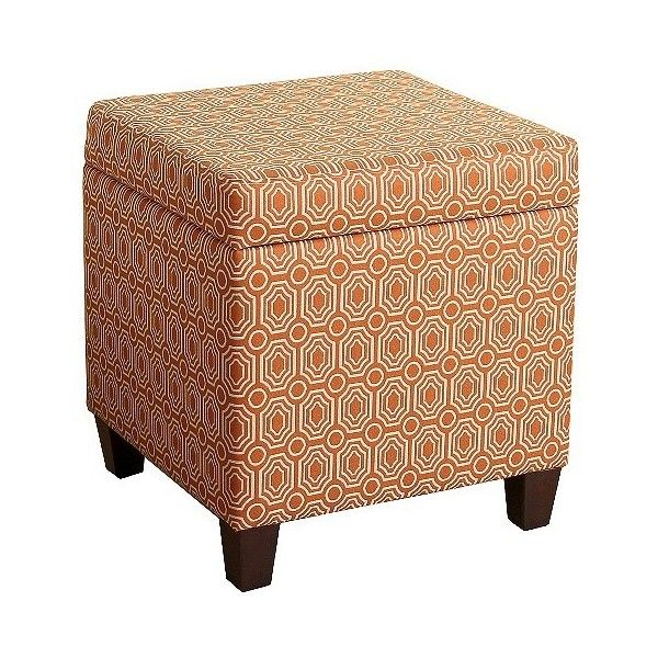 Sunshine Storage Cube Ottoman ($75) ❤ Liked On Polyvore Featuring Home,  Furniture,