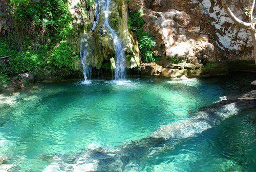 Fonissa waterfalls, Kithira island, Greece