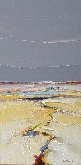 maree basse - Painting,  30x60 cm ©2011 par Christian Eurgal -  Peinture