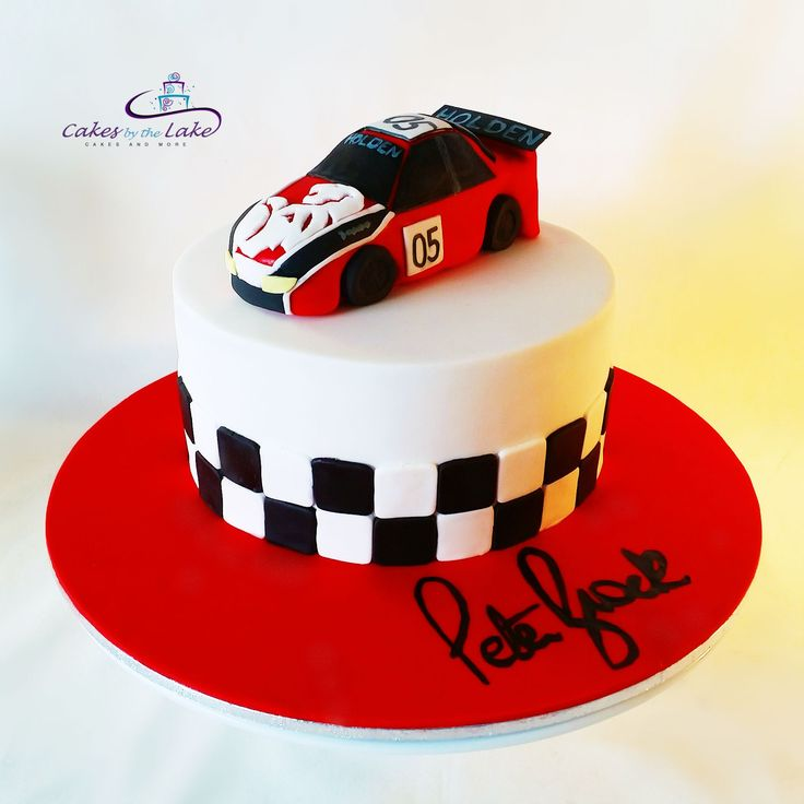 PETER BROCK CAKE We got racing with this chocolate mud cake from the weekend. Featuring a fondant miniature Holden Commodore with the famous '05' on the side and the signature of the late Peter Brock on the base. www.cakesbythelake.com.au