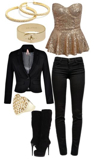 date outfit! sequin