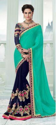 Sanaya 001 Bollywood Designer Beautiful Sarees Bollywood Sarees Online on Shimply.com