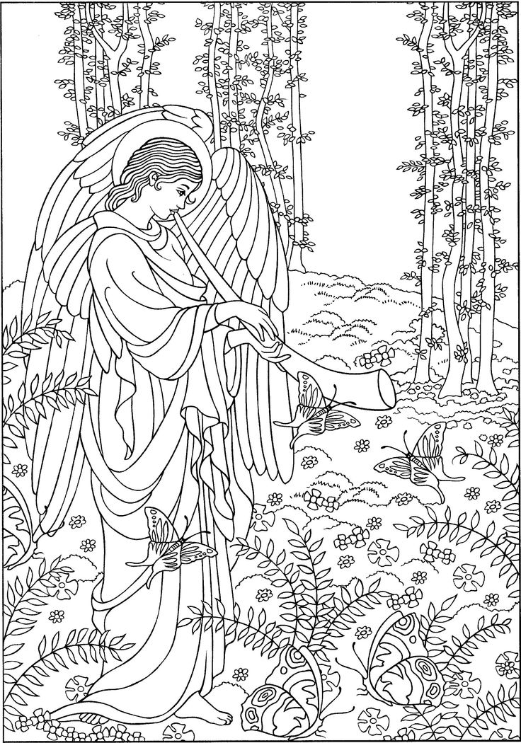 warrior angel coloring pages - photo#29