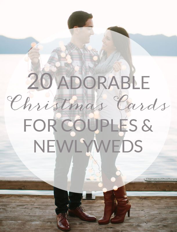 20 Christmas Cards for Couples & Newlyweds | SouthBound Bride | http://www.southboundbride.com/20-newlywed-christmas-cards | Credit: This Love Of Yours via Style Me Pretty