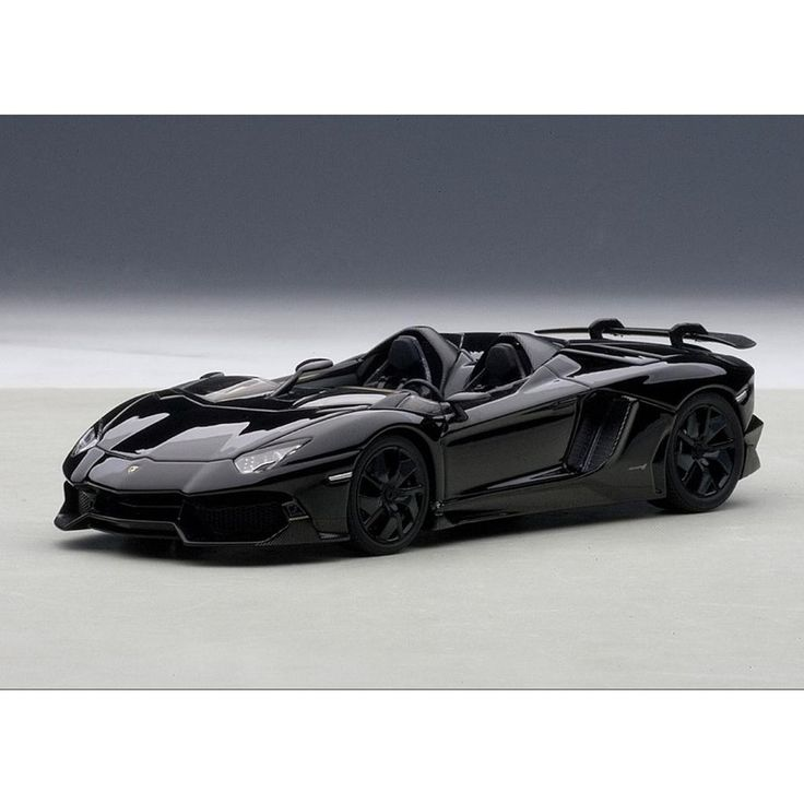 Lamborghini Aventador Roadster J Black 1/43 Diecast Model ...