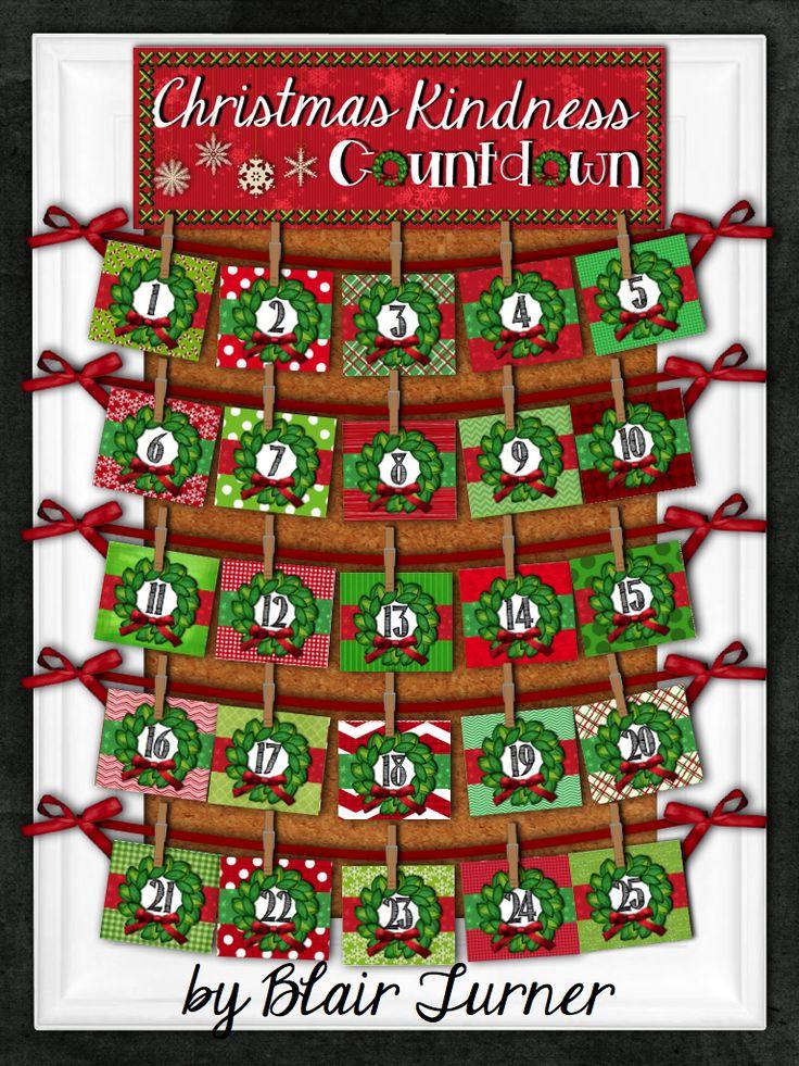 Christmas Kindness Countdown An Advent Calendar For Your