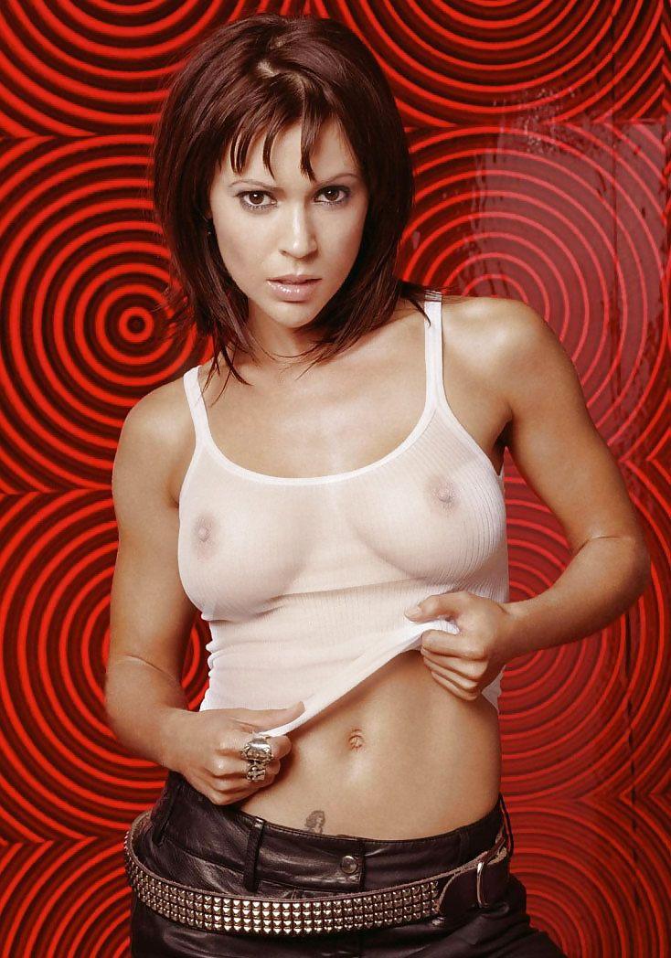 Have Alyssa milano nude interracial