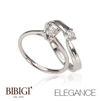 #Bibigi | Collezione #Elegance | Gioielli in oro bianco e diamanti.