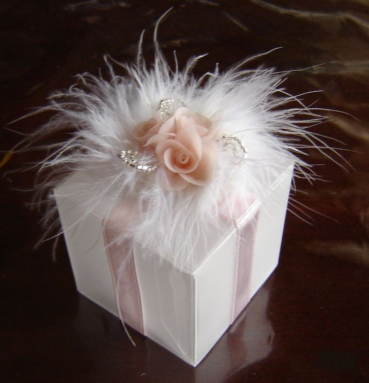Wedding Favor Box. Pink Favour Box. Set of 12. Made-to-Order