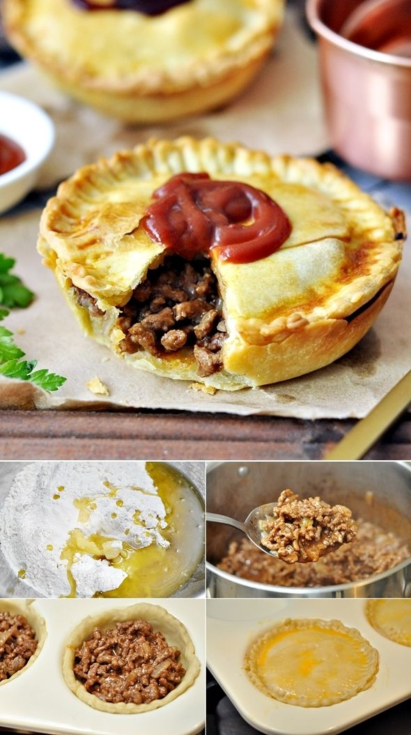 Australian Meat Pie Recipe with Olive Oil Shortcrust Pastry (Dairy Free Recipe) - Fuss Free Cooking
