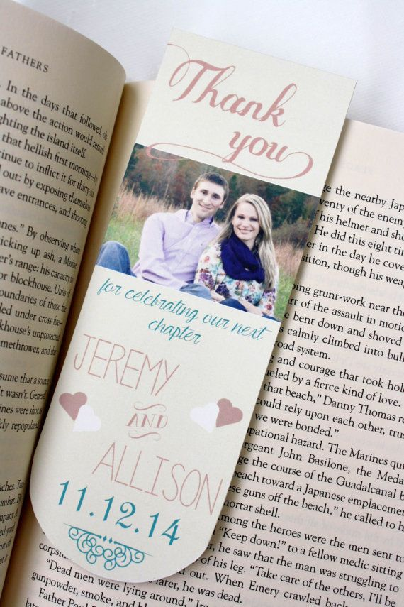 40 best Bookmark Wedding Favors images on Pinterest