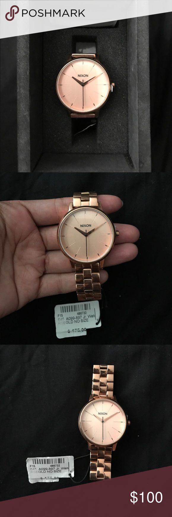 Rose Gold Nixon Watch BRAND NEW WITH TAGS Rose Gold Nixon Watch . Originally bought for $175 Selling for $100 OBO Nixon Accessories Watches